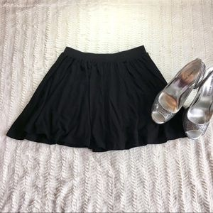 Mini Black Skater Skirt